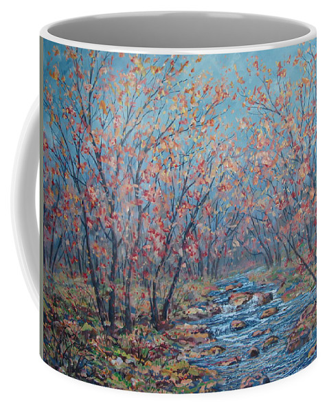 Landscape Coffee Mug featuring the painting Autumn Serenity by Leonard Holland
