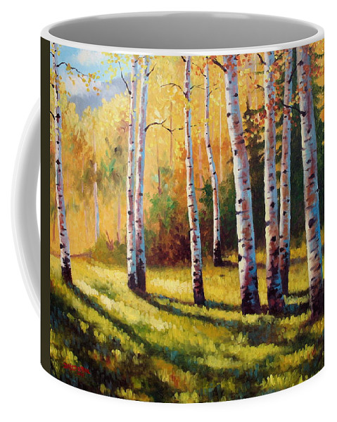 Landscape Coffee Mug featuring the painting Autumn Shade by David G Paul
