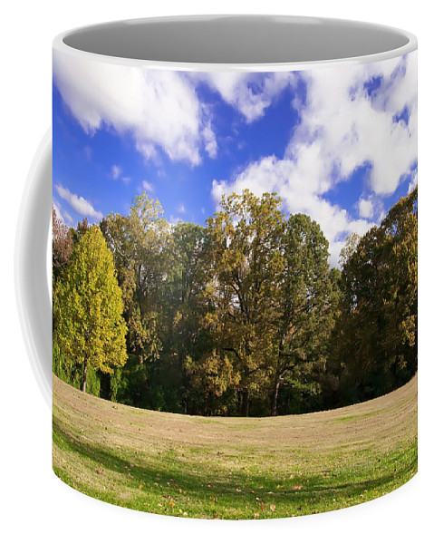 Autumn Coffee Mug featuring the photograph Autumn Skies by Bill Cannon