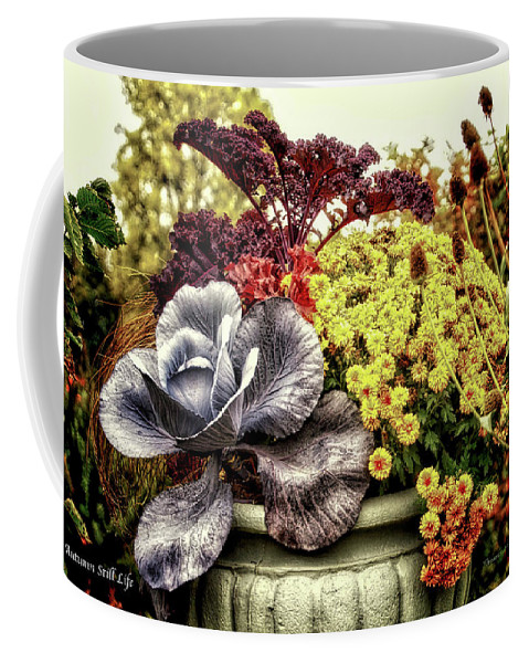 Vase Coffee Mug featuring the photograph Autumn Still Life by Thomas Woolworth