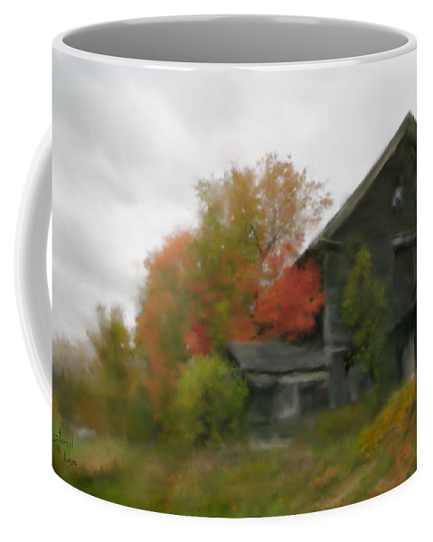 Nature Coffee Mug featuring the painting Autumn Stroll by Stephen Lucas