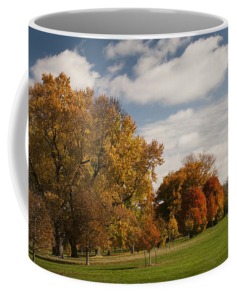 Autumn Coffee Mug featuring the photograph Autumn Under The Sky by Chad Davis