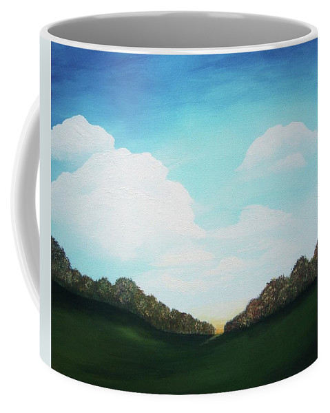 Landscape Coffee Mug featuring the painting Autumn Valley by Katie Slaby