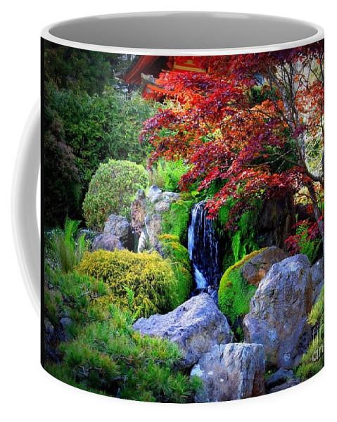 Autumn Waterfall Coffee Mug featuring the photograph Autumn Waterfall by Carol Groenen