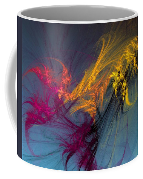Fine Art Coffee Mug featuring the digital art Autumn Winds by David Lane