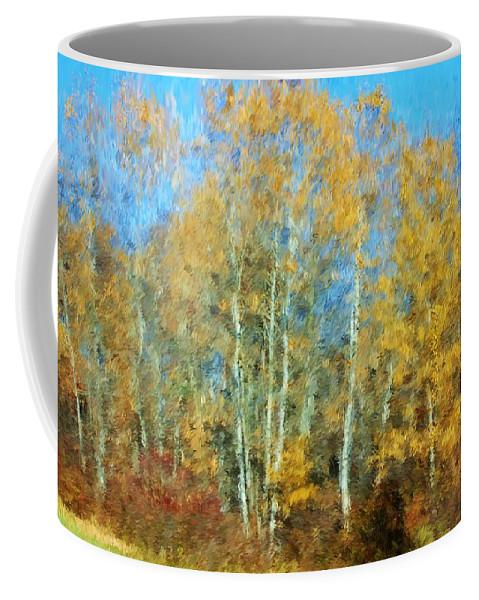 Coffee Mug featuring the photograph Autumn Woodlot by David Lane