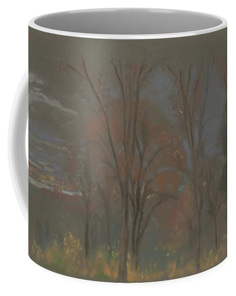 19th Century Art Coffee Mug featuring the pastel Autumn Woods by Arthur Bowen Davies