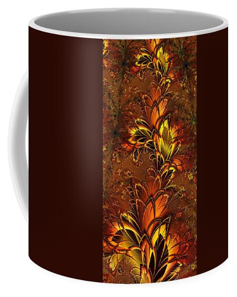 Digital Art Coffee Mug featuring the digital art Autumnal Glow by Amanda Moore