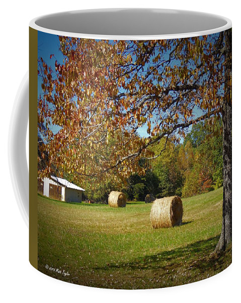 Outdoors Coffee Mug featuring the photograph Autumnal Scenery Along Helmstetler Road by Matt Taylor
