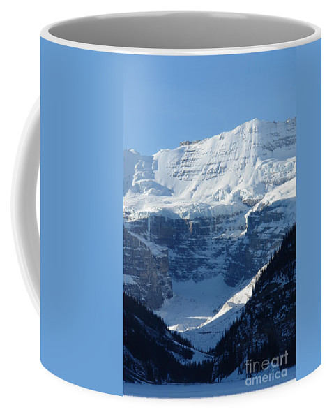 Conditions Are Perfect Coffee Mug featuring the photograph Avalanche Ledge by Greg Hammond