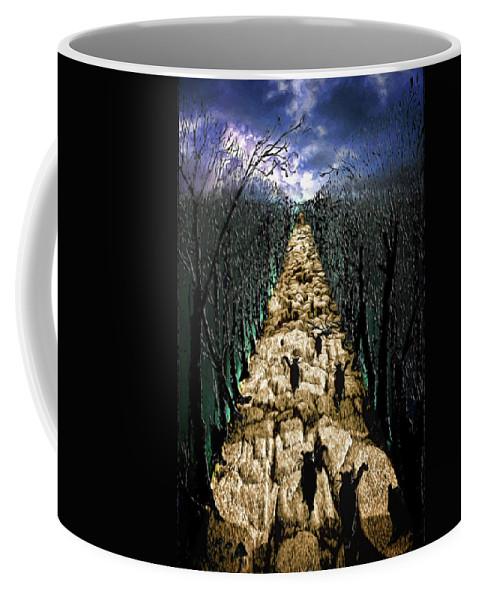 Cats Coffee Mug featuring the digital art Avenue Des Chats by John Haldane