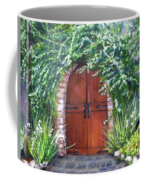 Door Curved Archway Coffee Mug featuring the painting Avignon by Olga Kaczmar