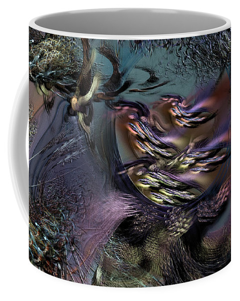 Abstract Coffee Mug featuring the digital art Awaiting The Wraith by Casey Kotas