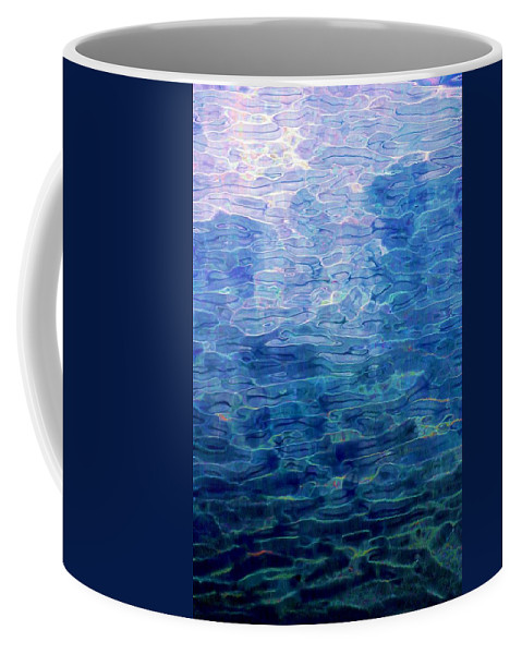 Abstract Digital Painting Coffee Mug featuring the digital art Awakening From The Depths Of Slumber by David Lane