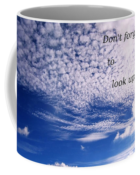 Sky Coffee Mug featuring the photograph Awesome Sky And Cloud Formation by Yali Shi