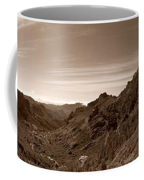 Lehtokukka Coffee Mug featuring the photograph Ayacata And Roque Nublo 2 by Jouko Lehto