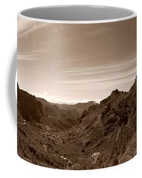 Lehtokukka Coffee Mug featuring the photograph Ayacata And Roque Nublo by Jouko Lehto