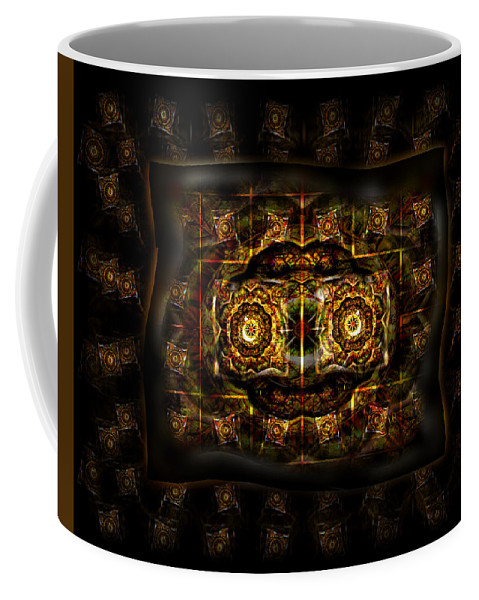 Ayahuasca Brings Forth Wisdom Reaching Out From Darkness Gathering The Light Coffee Mug featuring the digital art Ayahuasca Speaks by Garrett