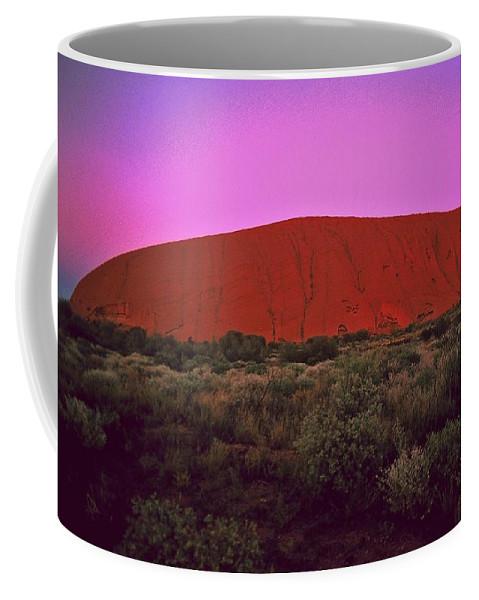Australia Coffee Mug featuring the photograph Ayres Rock by Gary Wonning
