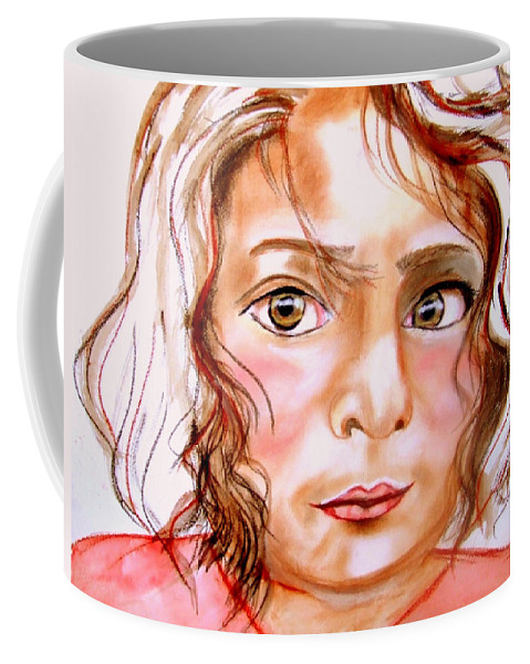 Children Coffee Mug featuring the painting Ayse by Rusty Gladdish