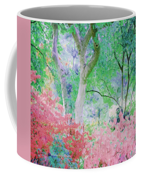 Flowers Coffee Mug featuring the painting Azalea Flowers And Tree Coral by Susanna Katherine