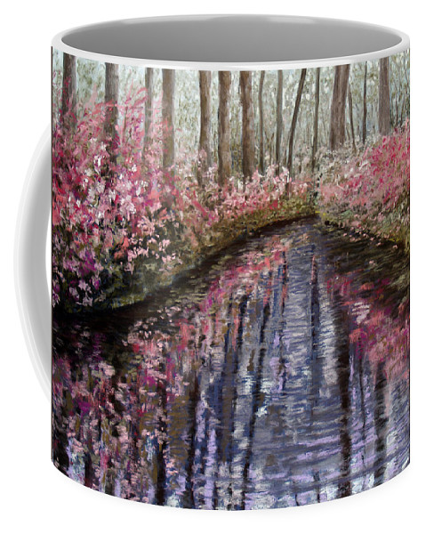 Landscape Coffee Mug featuring the painting Azalea River by Susan Jenkins
