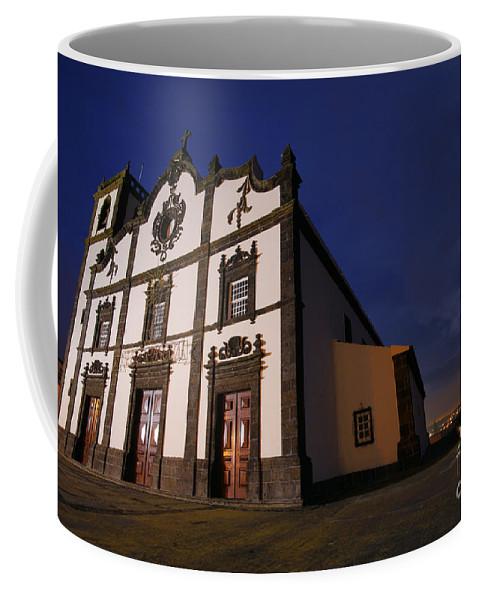 Catholic Coffee Mug featuring the photograph Azorean Church At Night by Gaspar Avila