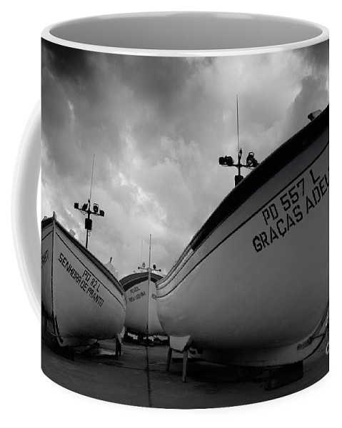 Azoren Coffee Mug featuring the photograph Azorean Fishing Boats by Gaspar Avila