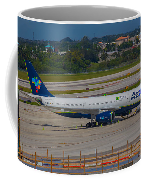 Azul Coffee Mug featuring the photograph Azul Barzillian Airline by Dart and Suze Humeston