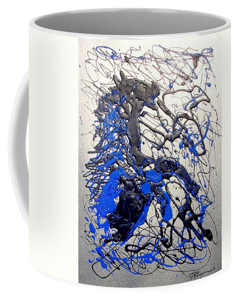 Abstract/impressionist Art Coffee Mug featuring the painting Azul Diablo by J R Seymour
