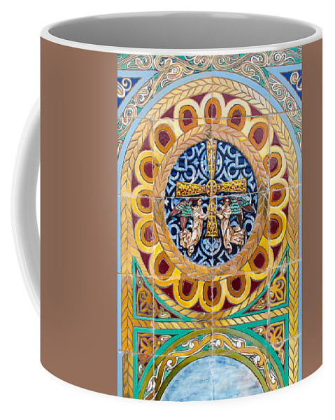 Decoration Coffee Mug featuring the photograph Azulejo - Colorful Details by Andrea Mazzocchetti