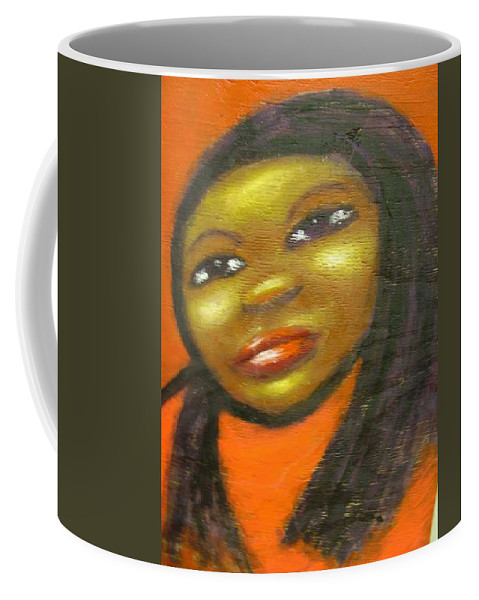 Lady In A Red Dress Coffee Mug featuring the painting B by Jan Gilmore