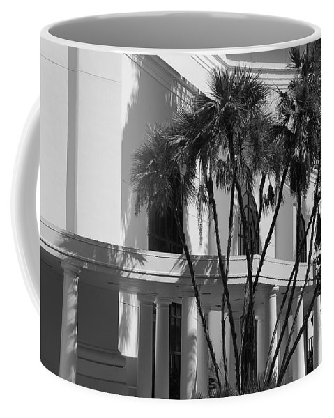Black And White Coffee Mug featuring the photograph B S Post Modern..... by Rob Hans
