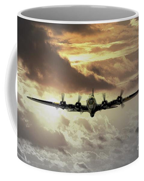 B17 Coffee Mug featuring the digital art B17 Dawn by J Biggadike