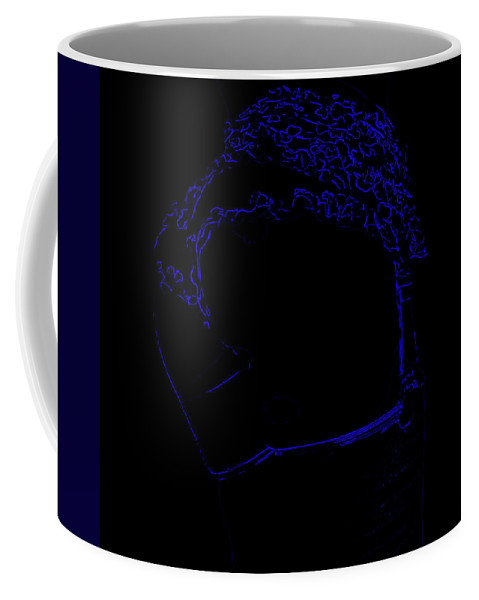 G String Coffee Mug featuring the mixed media B1a by Brian Reaves