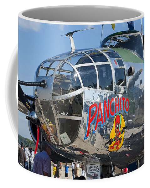 Airplane Coffee Mug featuring the photograph B25 by Kenneth Albin