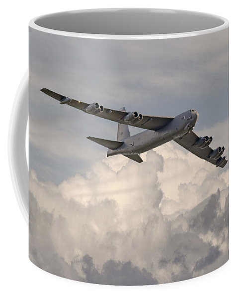 Aircraft Coffee Mug featuring the photograph B52-h by Pat Speirs