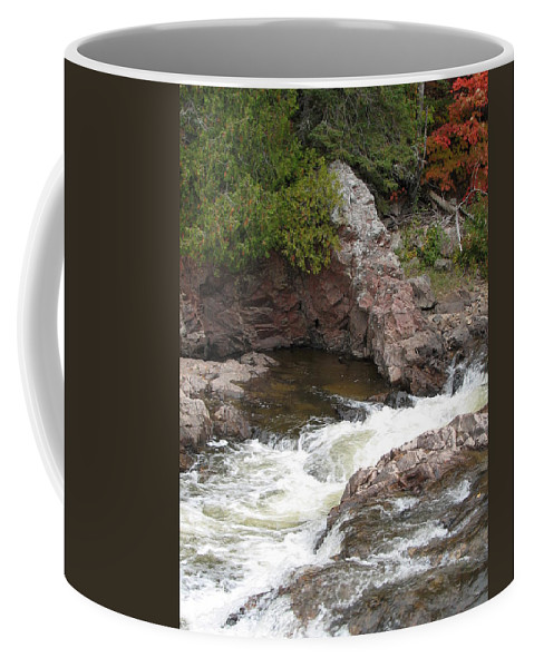 River Coffee Mug featuring the photograph Babbling by Kelly Mezzapelle