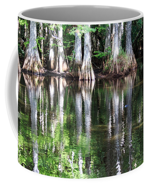 Florida Coffee Mug featuring the photograph Babcock Wilderness Ranch - Alligator Lake Reflections by Ronald Reid