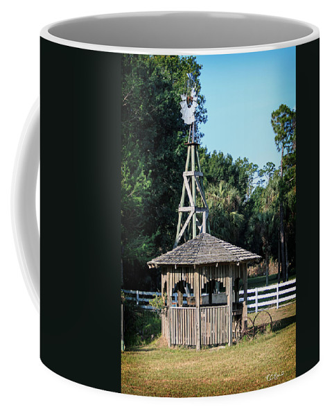 Florida Coffee Mug featuring the photograph Babcock Wilderness Ranch - Windmill by Ronald Reid