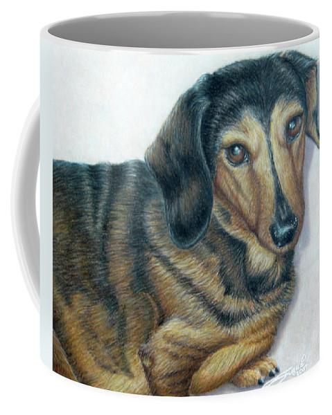 Fuqua - Artwork Coffee Mug featuring the drawing Babe by Beverly Fuqua