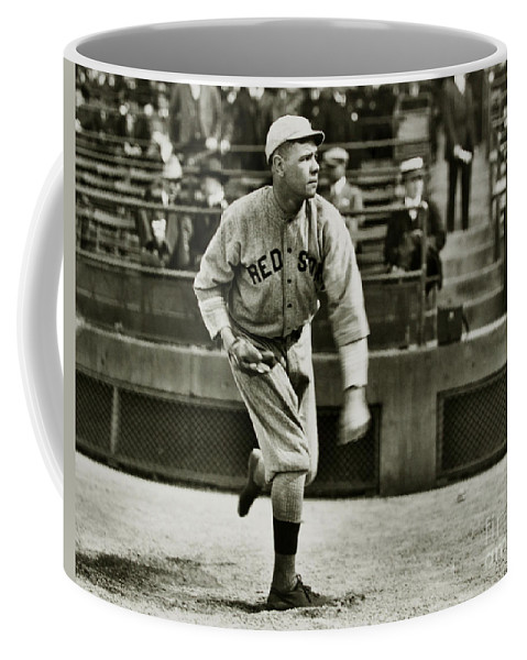 Babe Ruth Coffee Mug featuring the photograph Babe Ruth Pitching by Jon Neidert
