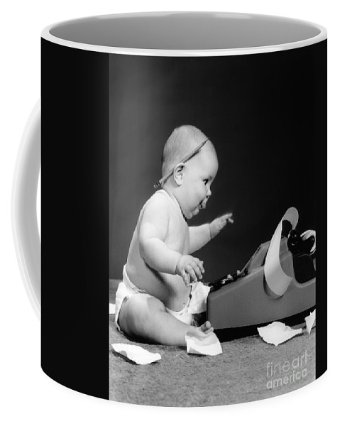 1960s Coffee Mug featuring the photograph Baby Accountant by H. Armstrong Roberts/ClassicStock