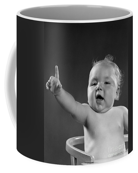 1940s Coffee Mug featuring the photograph Baby Appearing To Make A Point by H. Armstrong Roberts/ClassicStock