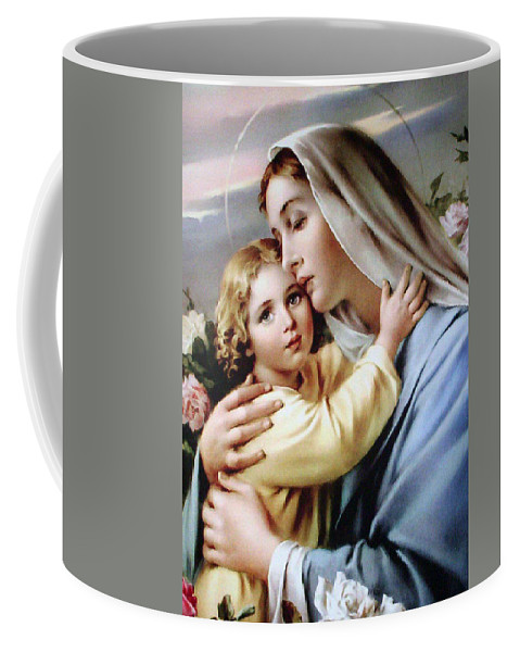 Religion Coffee Mug featuring the painting Baby Jesus by Munir Alawi