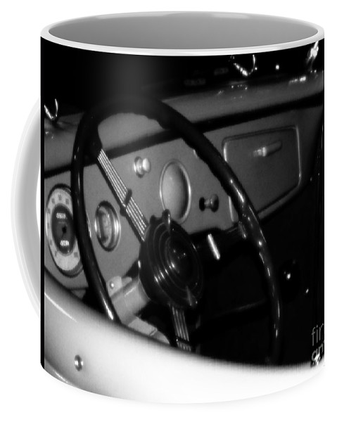 Black And White Coffee Mug featuring the photograph Baby You Can Drive My Car I by RC DeWinter