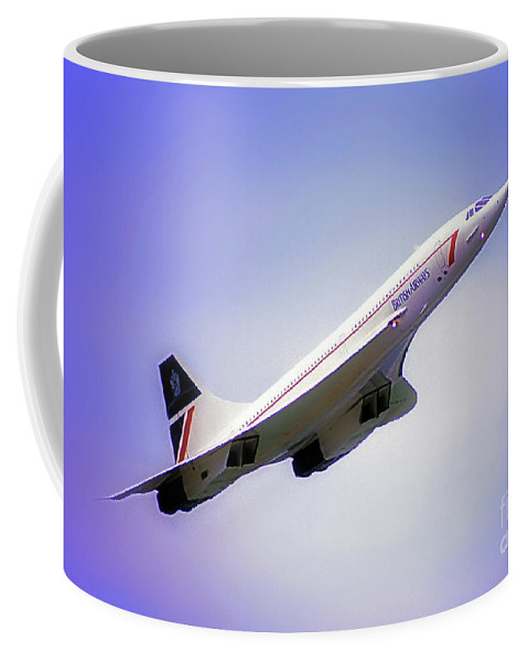 Bac Coffee Mug featuring the photograph Bac Concorde by Tom Jelen
