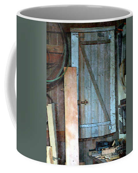 Tools Coffee Mug featuring the painting Back Corner Closet by RC DeWinter