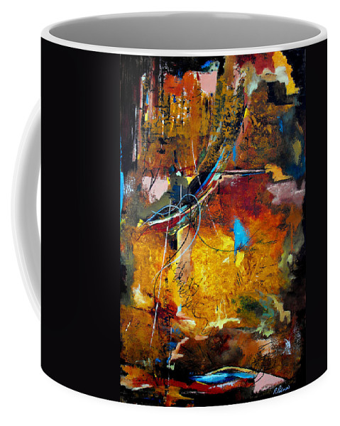 ruth Palmer Coffee Mug featuring the painting Back In The Saddle Again by Ruth Palmer