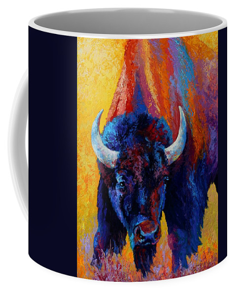 Wildlife Coffee Mug featuring the painting Back Off by Marion Rose